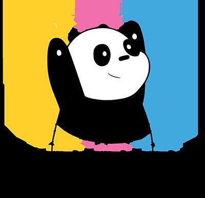 panda hug hoodie logo