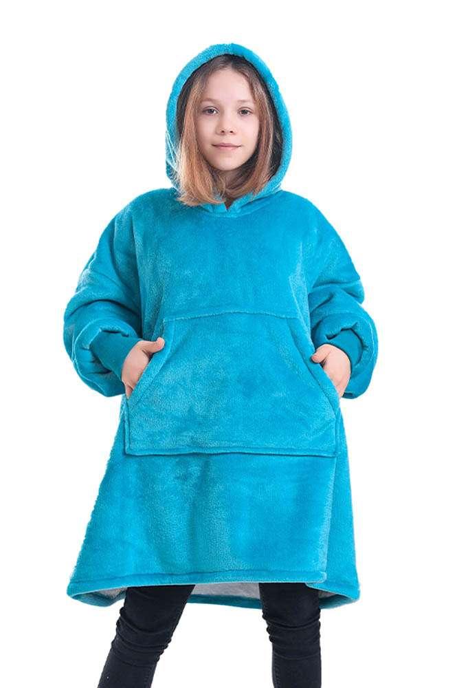 Panda hug kids blue hanorac pufos copii albastru