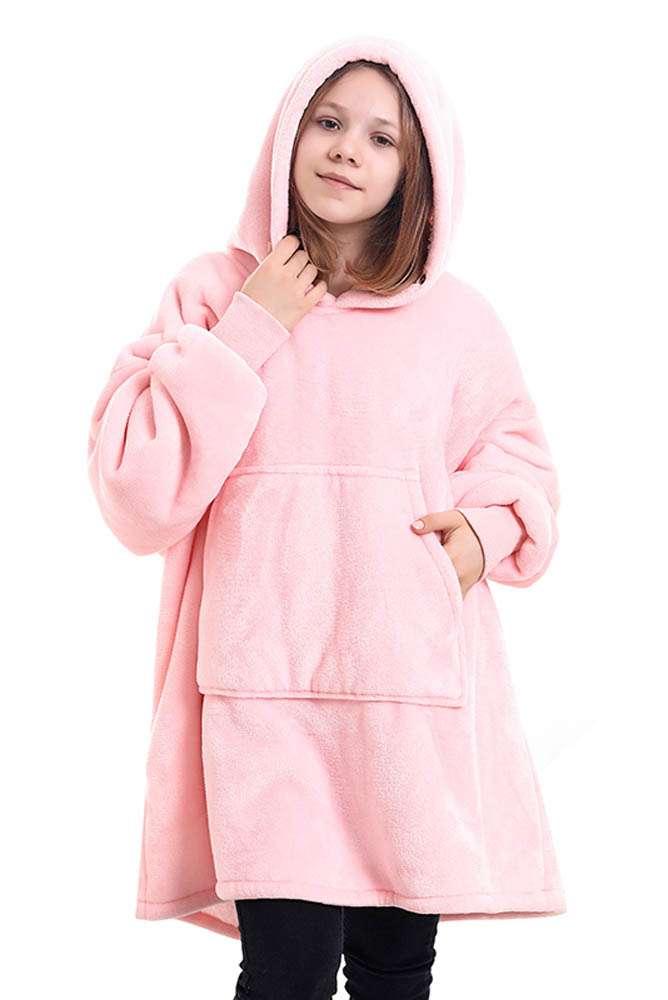 Panda hug kids pink hanorac pufos copii roz