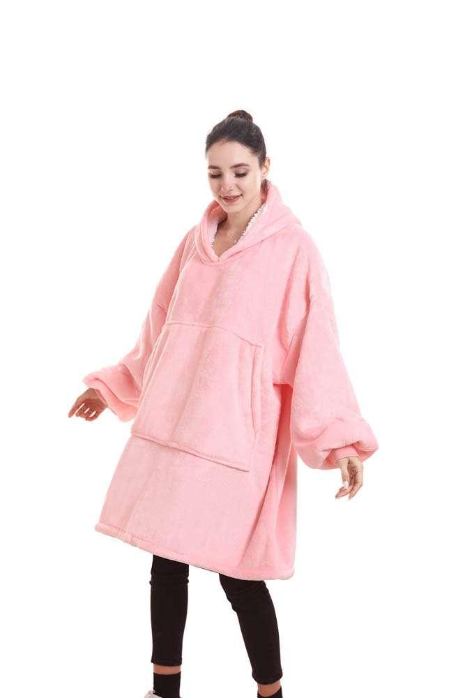 Panda hug faded pink hanorac pufos roz deschis