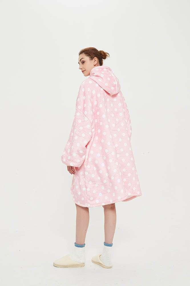 Panda hug pink dotted hanorac pufos roz buline
