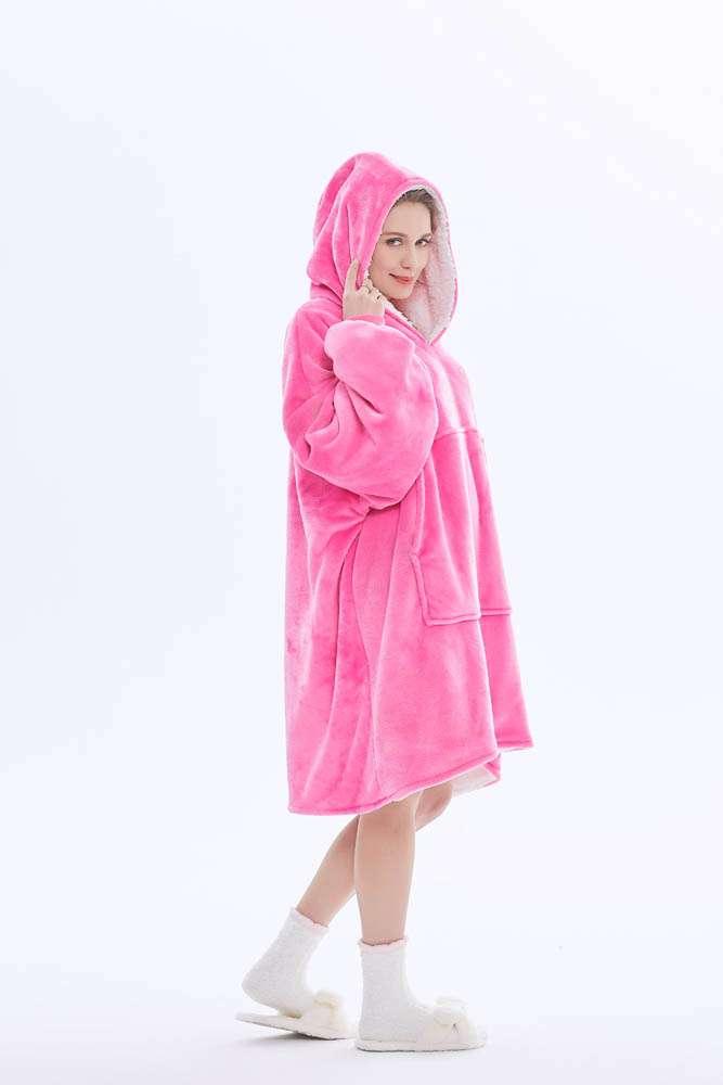 Panda hug pink hanorac pufos roz