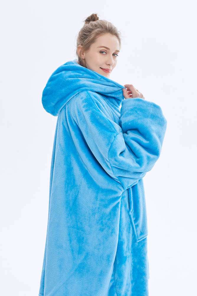 Panda hug sky blue hanorac pufos albastru